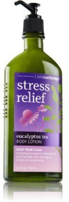 Bath & Body Works aromatherapy stress relief eucalyptus tea body lotion