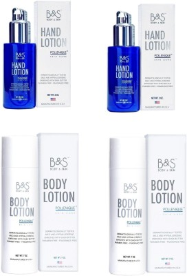 B&S Combo of 2 Body & 2 Hand Lotion