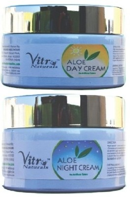 Vitro Naturals Combo Pack : Aloe Day Cream + Aloe Night Cream