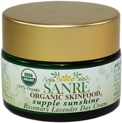 SanRe Organic Skinfood Supple Sunshine - 100% USDA Organic Rosemary and Lavender Day Cream - No SPF