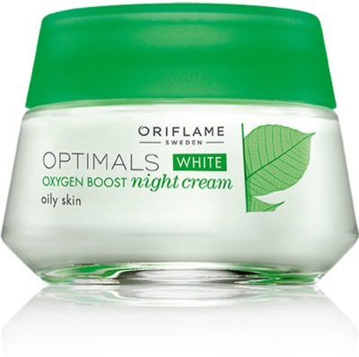 Oriflame Sweden Optimals White Oxygen Boost Night Cream Oily Skin