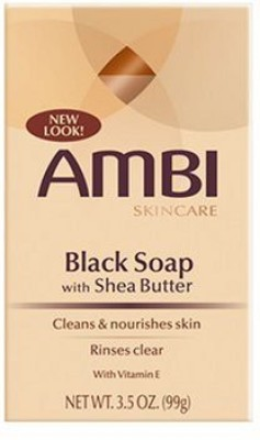 AMBI Skincare Black Soap With Shea Butter, - Package