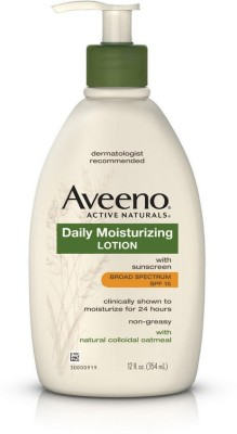 Aveeno Daily Moisturizing Lotion With Sunscreen Broad Spectrum Spf 15