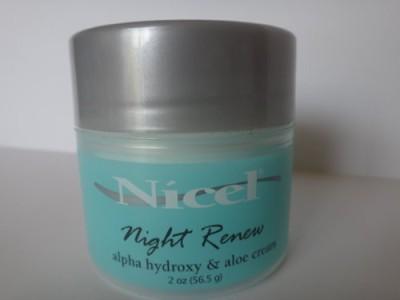 Nicel Night Renew Alpha Hydroxy & Aloe Cream [ ] -Pack