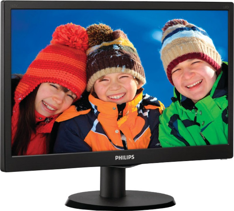 Philips 163V5LSB23/94 15.6 inch LED Backlit LCD Monitor(Black)
