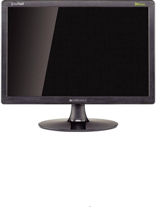 Zebronics 16 inch Full HD LED - ZEB-16A  Monitor(Black) image