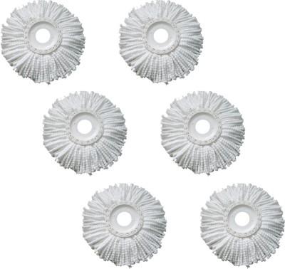 Blyssware Set of 6 360 Rotating Magic Refills Wet & Dry Mop(White)