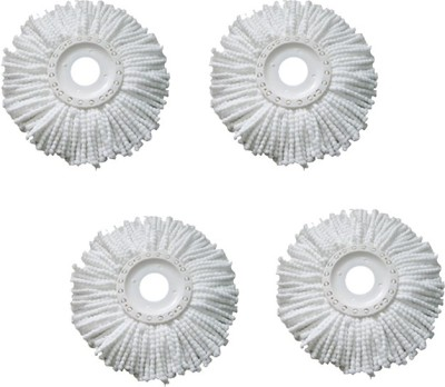 Imperio Set of 4 360 Rotating Magic Refills Wet & Dry Mop(White)