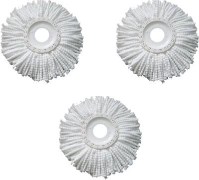 Blyssware Set of 3 360 Rotating Magic Refills Wet & Dry Mop(White)