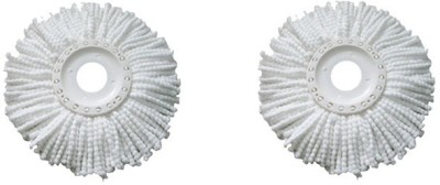 Blyssware Set of 2 360 Rotating Magic Refills Wet & Dry Mop(White)