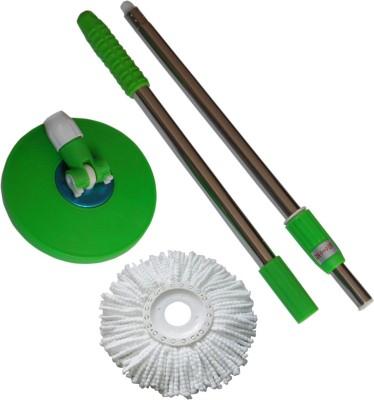 Infinxt Replacement Handle Wet & Dry Mop(Green)