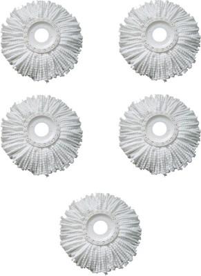 Blyssware Set of 5 360 Rotating Magic Refills Wet & Dry Mop(White)