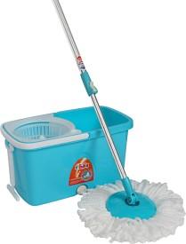 Gala Spin Popular Mop Set(Built in Wringer Blue, White)