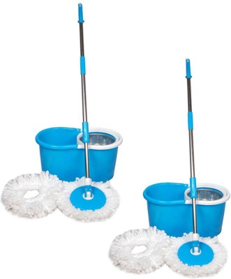 ECO SHOPEE ECO SHOPEE COMBO OF TWO STEEL MOP (Product Colour may vary as availability) Mop Set