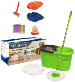 Winberg Steep spin Mop Mop Set(Built in Wringer)