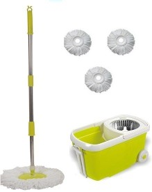 MSE 360 Degree Spin Magic_17 Mop Set(Built in Wringer Green)