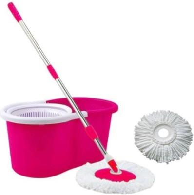 blue leaf Blue Leaf Mop Set (PINK) Mop Set(Built in Wringer Pink)