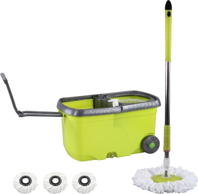 Evana Wheel_mop_green003 Mop Set(Built in Wringer)