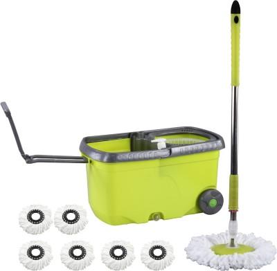 Evana Wheel_mop_green005 Mop Set(Built in Wringer)
