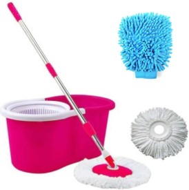 Skyclean 360 degree rotation Multicolor Mop Set(Built in Wringer Multicolor)