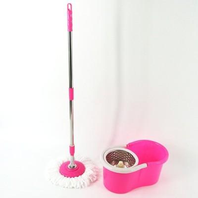 ShopiMoz MOP-05 Mop Set(Built in Wringer Pink)