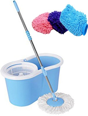 ECO SHOPEE ECO SHOPEE SUPER MAGIC MOP WITH HAND GLOVES (Product Colour may vary as availability) Mop Set