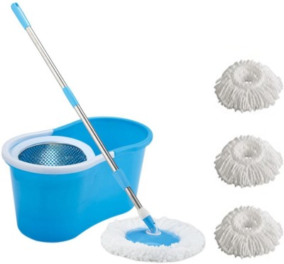 ECO SHOPEE ECO SHOPEE COMBO OF SUPER MAGIC STEEL MOP WITH THREE MICROFIBER (Product Colour may vary as availability) Mop Set