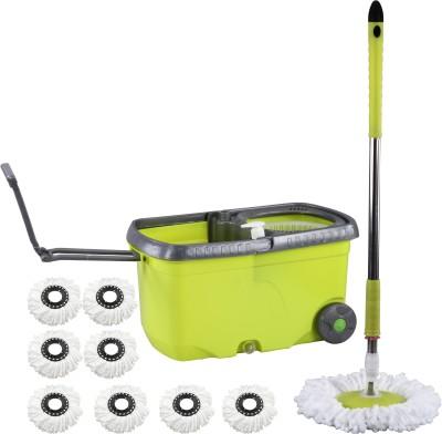 Evana Wheel_mop_green006 Mop Set(Built in Wringer)