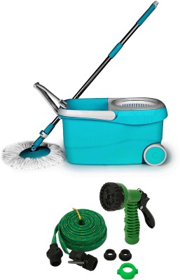 Wonder Spin Mop with 2 pc Laundry Bag in Assorted Color Mop Set(Built in Wringer Blue)