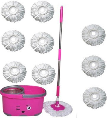 WDS Smiley Eyes Mop Set with 9 refil Mop Set