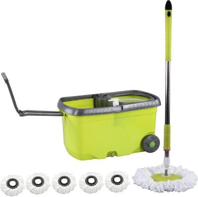 Evana Wheel_mop_green002 Mop Set(Built in Wringer)
