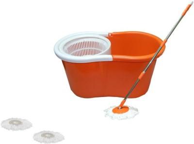 Home Quest Mop Floor Cleaner Mop Set(Built in Wringer Orange)
