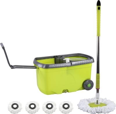 Evana Wheel_mop_green004 Mop Set(Built in Wringer)