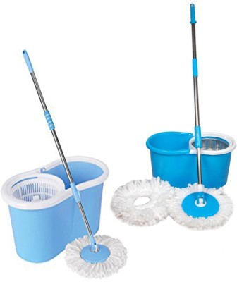 ECO SHOPEE ECO SHOPEE COMBO OF PVC AND STEEL MOP (Product Colour may vary as availability) Mop Set