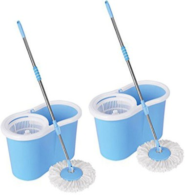 ECO SHOPEE ECO SHOPEE COMBO OF TWO PVC MOP (Product Colour may vary as availability) Mop Set
