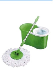 blue leaf Plastic Mop Set(Built in Wringer Green)