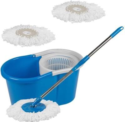 Home Quest Floor Cleaner Mop Set(Built in Wringer Blue)