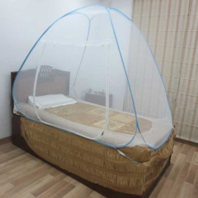 Royal Single Bed Foldable Mosquito Net Mosquito Net(White, Blue)