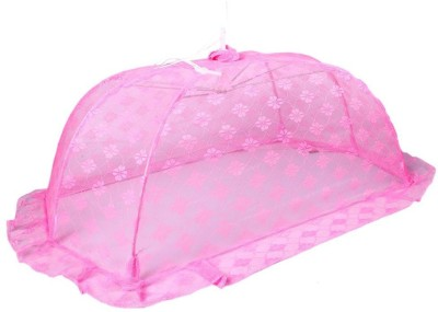 Baby Bucket Mosquito Net Floral Design (Pink,Large) Mosquito Net
