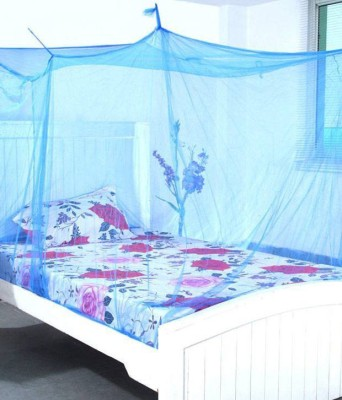 Ans ans mosquito net 6.25x8 ft blue long bed Mosquito Net(blue)