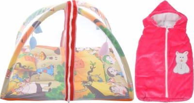 ROYAL SHRI OM BABY BEDDING WITH MOSQUITO NET (PLAYGYM) AND BABY WRAPPER Mosquito Net