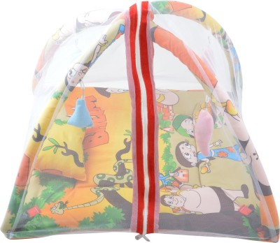 ROYAL SHRI OM BABY BEDDING SET WITH MOSQUITONET & PLAYGYM Mosquito Net