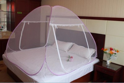 Ans Twist Folding Mosquito Net Double Bed Mosquito Net(Purple)