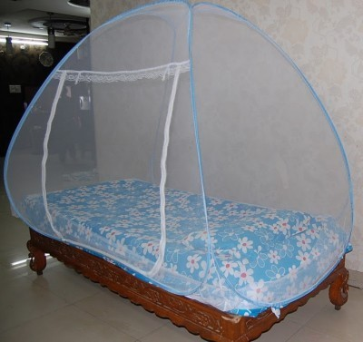 Prc Net Single Bed Blue Mosquito Net(Blue)