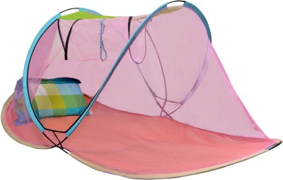 AmazingHind Single Bed Foldable Mosquito Net(Multicolour)