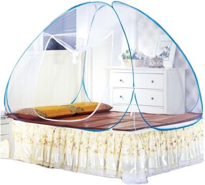BonZeal Foldable Mosquito Net Tent Blue Mosquito Net(Blue)