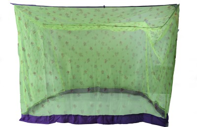 Riddhi Lighte Green Sqaure Printed With Border Mosquito Net