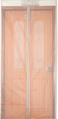 KARP Good Quality Summer Magnetic Stripe Magic mesh polyester Door Curtain-Cream Anti Mosquito Net