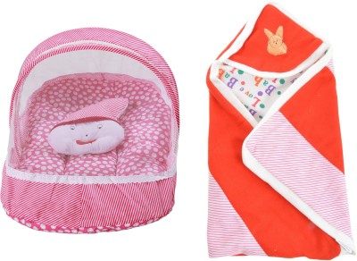 ROYAL SHRI OM BABY SLEEPING BED WITH MOSQUITO NET AND BABY WRAPPER Mosquito Net