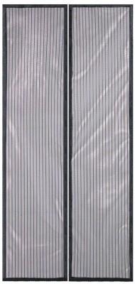 Packnbuy Net Black Solid Concealed Tab Top Long Door Curtain
